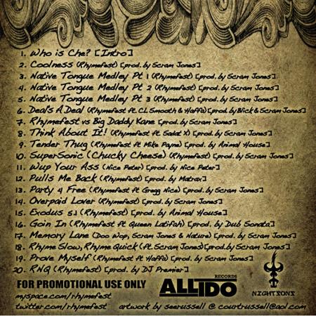 De tracklist